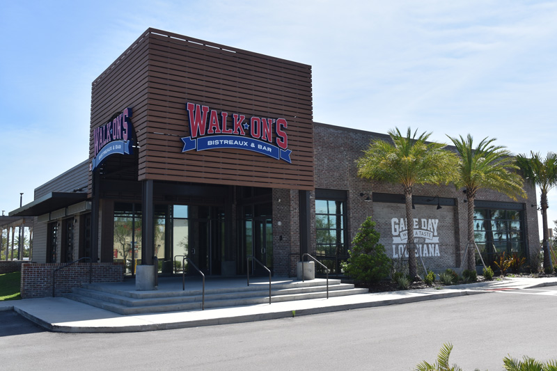 Walk Ons Building from parking lot.