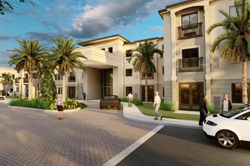 Senior living facility render