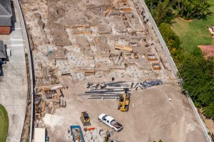 Construction site shot from above